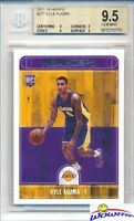 2017/18 Panini Hoops #277 Kyle Kuzma ROOKIE BGS 9.5 GEM MINT Los Angeles Lakers