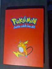 More details for pokemon - trading card raichu binder - side loading 9 pocket