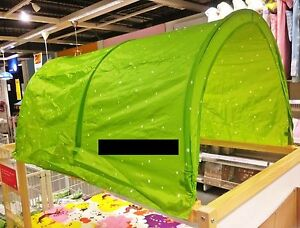 IKEA Child's KURA BED TENT Canopy Toy GREEN 0r PINK 0r BLUE Girl Boy