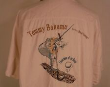 Tommy Bahama Chairman of the Board Embroidered Hawaiian Mens Silk Shirt Sz 2XL