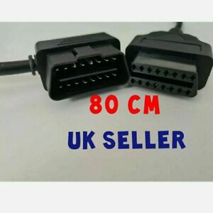 OBD2 16 Pin Male 2 Female Socket Plug ELM327 Diagnostic Extension Cable Lead CAR