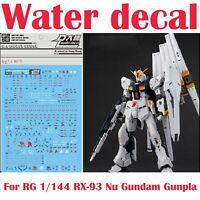 For RG 1/144 RX-93 Nu Gundam Gunpla D.L Dalin WaterSlide Decal Stickers RG33 NEW