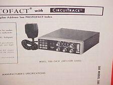 1978 SBE CB RADIO SERVICE SHOP MANUAL MODEL SBE-54CB (KEY/COM 1000)