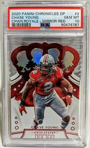 2020 Panini Chronicles Draft Chase Young Crown Royale Mirror Red PSA 10 RC POP 1