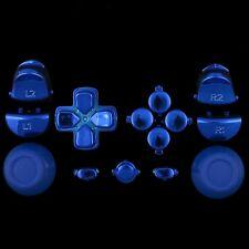 Sticks/Tasten/Button/Knöpfe/Set/Mod Kit für PS4® Controller - chrom blau