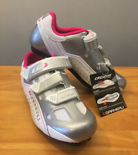 New! Louis Garneau Women's Jade HRS-80 Cycling Shoes Silver/Pink Size 37 US 6.5