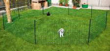 Kaninchennetz elektrifizierbar Litzen und Pfähle in grün 12m lang