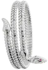 Sterling Silver Ladies Snake Bangle 26 Grams NEW HALLMARKED