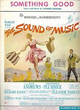 SOUND OF MUSIC 1964 Film Sheet Music SOMETHING GOOD Julie Andrews