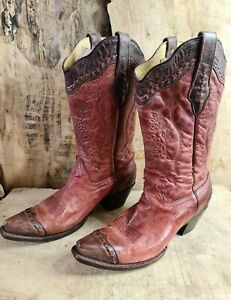 Corral Cowboy Boots Womens Size 9 1/2M Us Or 7.5 UK
