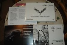 2015 CHEVROLET CORVETTE OWNERS MANUAL PACKET SET NEW TAKE OUT