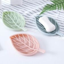 Portable Leaf Shape Soap Holder Tray with Drain Plastic Soap Box Holder