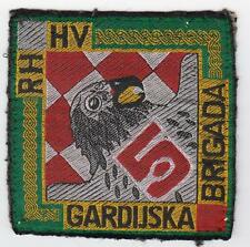"CROATIA ARMY, 5th GUARD BRIGADE ""HAWKS"" 5. GARDIJSKA BRIGADA ""SOKOLOVI"" PATCH"