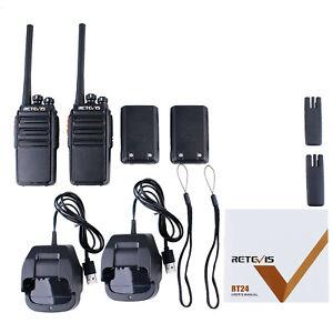 Retevis RT24 Walkie Talkies  PMR446 License-free 16CH Long Range Two Way Radio*2