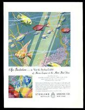 1932 Douglas Donald tropical fish art Sterling Marine boat engine print ad