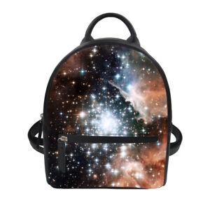 Women Mini Satchel Galaxy Designs Backpack PU High Quality Shoulder Handbags
