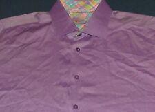 Men's Bertigo Lavender Long Sleeve Shirt w/Flip Cuffs Size 6 2XL 100% Cotton