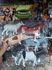 kit gioco animali piccoli fattoria mucca maiale animal toy giocattolo plastica