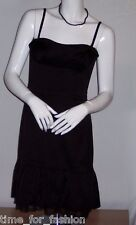 BCBG MAXAZRIA Black Strapless Cocktail Dress w Ruching at bust Ruffled Hem (10)