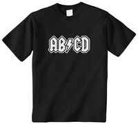 ABCD Kids Youth T-Shirt Tee Pop Culture Funny Music Rock Roll Letters