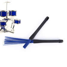 1pc Nylon Jazz Drum Brushes Retractable Drum Sticks blue Musical instrument LJAU
