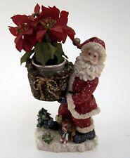 Weihnachtsmann mit Übertopf Sack Keramik Höhe ca 27 cm