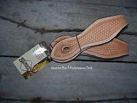 Slobber Straps (Pair) - Embossed (Basketweave Tooling)
