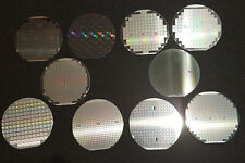 "10 Assorted Vintage 4"" silicon wafers - All are American made"