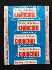 A&BC 1965 The Story of Sir Winston Churchill 2D Wax Gum Card Wrapper