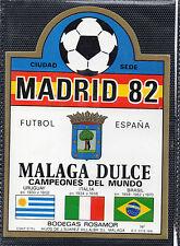 Etiqueta de Vino Madrid 82 Malaga Dulce Bodegas Rosamor (CV-908)