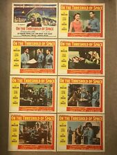 8 Original Lobby Cards 11x14: On the Threshold of Space (1956) Guy Madison