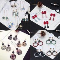New Fashion Women Acrylic Geometric Dangle Drop Statement Earrings Jewelry Gift