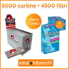 5000 cartine Enjoy Freedom Silver corte +4500 filtri Rizla slim