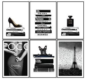 Fashion Print, Poster Wall Art Design Home Decor Gift Set of 6 size A4 A3