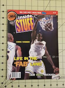 Chris Webber NBA Inside Stuff Magazine Dec 1993- pre owned