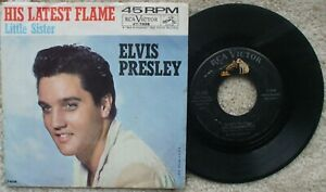 Elvis Presley - Little Sister / His Latest Flame - 1961 USA 45 + PS 47-7908