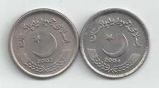 2 DIFFERENT 5 RUPEE COINS from PAKISTAN DATING 2003 & 2004