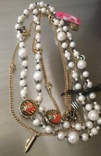 RARE Betsey Johnson Goes to Paris JETAIME Long Pearl Necklace