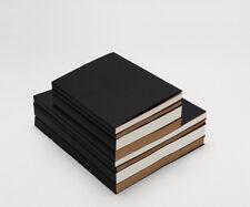 Sketchbook Notebook BLACK sleeve cover sewing case Inner Blank White/Kraft paper