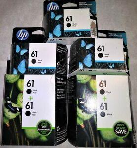 Lot 7 HP 61 Ink Cartridge Black CH561W Virgin Empty Genuine Hewlett Packard