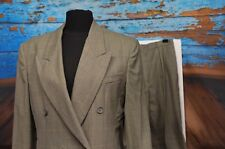Burberry Sz 8/10 Pant Suit Double Breasted Blazer Masculine Window Pane Check US