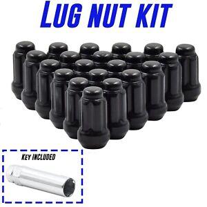 20pc Black Spline Lug Nut Kit fits M12x1.5 Honda, Hyundai, Kia, Ford