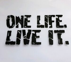 1x One Life Live it Vanlife Car Van Vinyl Sticker Window Decal Surf Beach Black