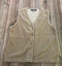 Orvis Vintage Vest Corduroy Mens Small Tan EUC Missing One Button Made In USA