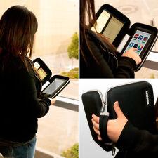 "VanGoddy Black Cube Sleeve Tablet Bag For Samsung Galaxy Tab 4 7 7.0"" SM-T230NU"