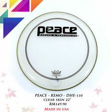 """PEACE-REMO DHE-110 22"""" Powerstroke Clear Bass Drum Head"""