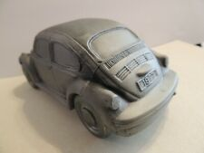 "RARE Volkswagen VW Bug Coin Bank~1974 Banthrico heavy cast metal 6""L x 3""W"