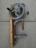 Antique Champion Blower & Forge Hand Crank Post Drill Press Lancaster PA Vintage