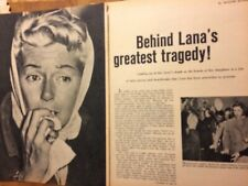 Lana Turner, Four Page Vintage Clipping