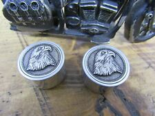 Eagle Guitar knobs with aluminum sides.